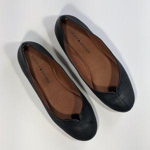 Lucky Brand Finorah Flat in Black